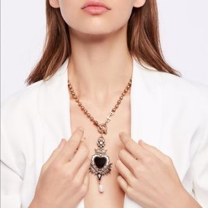 Free People Regal Heart Toggle Necklace